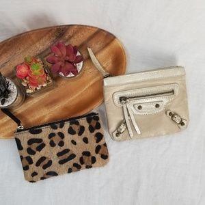 Balenciaga and Leather Cheetah ASOS Coin Purses